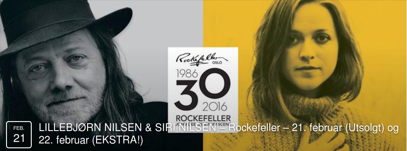 Siri Nilsen og Lillebjørn Nilsen på Rockefeller
